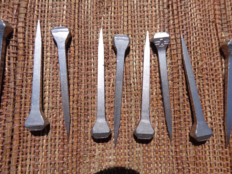 Horse Shoe Nails 20 2 inch Metal Silver Steel Hangers Primitive wall ...