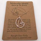Photo of Fibonacci Necklace-Handcrafted Golden Ratio Pendant-Golden Triangle-Teacher Gift…