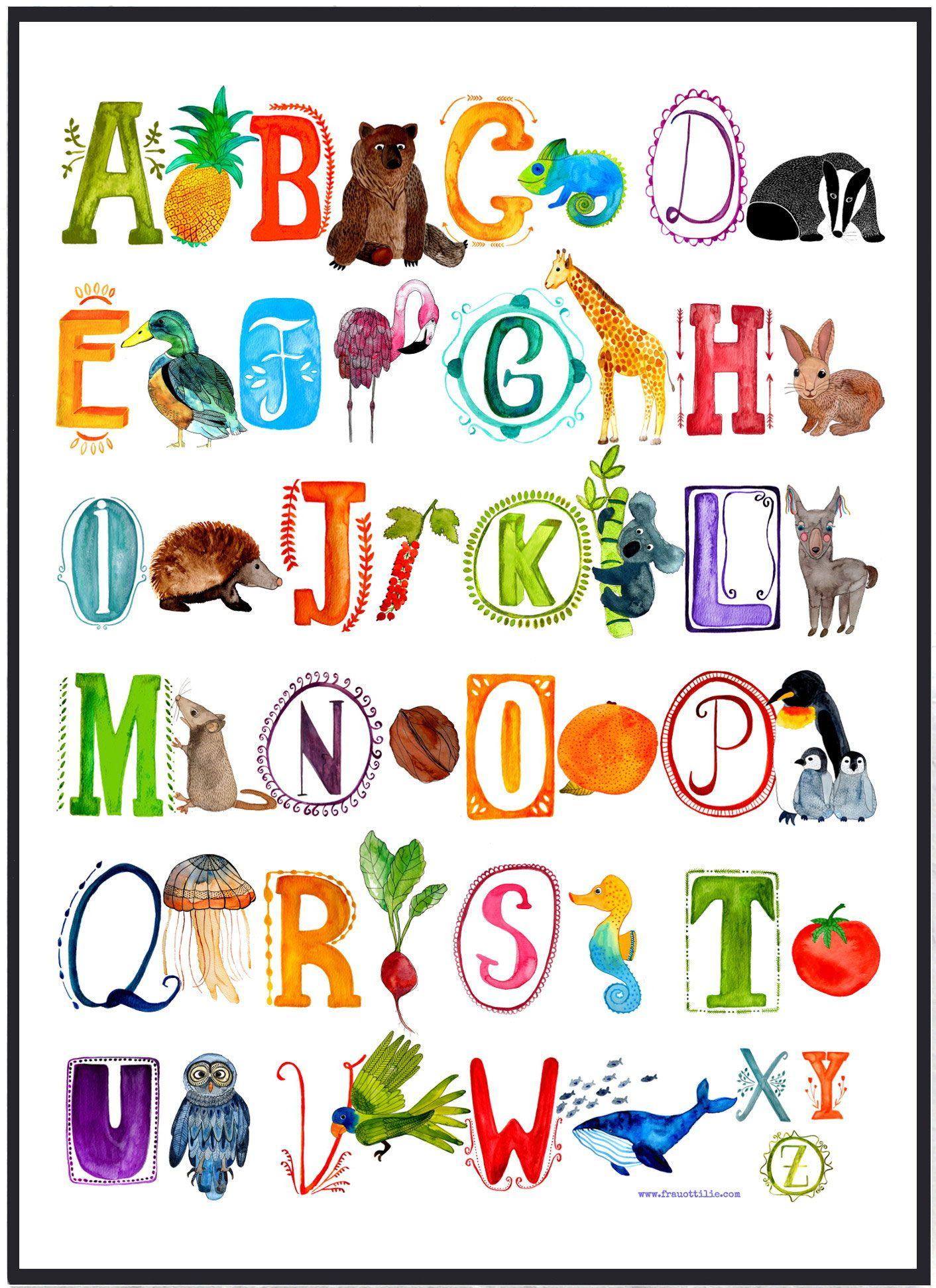 Poster fürs Kinderzimmer - eine Messlatte, ein ABC Poster, ein ...