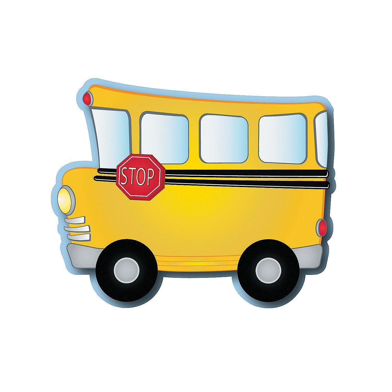 School Bus Bulletin Board Cutouts