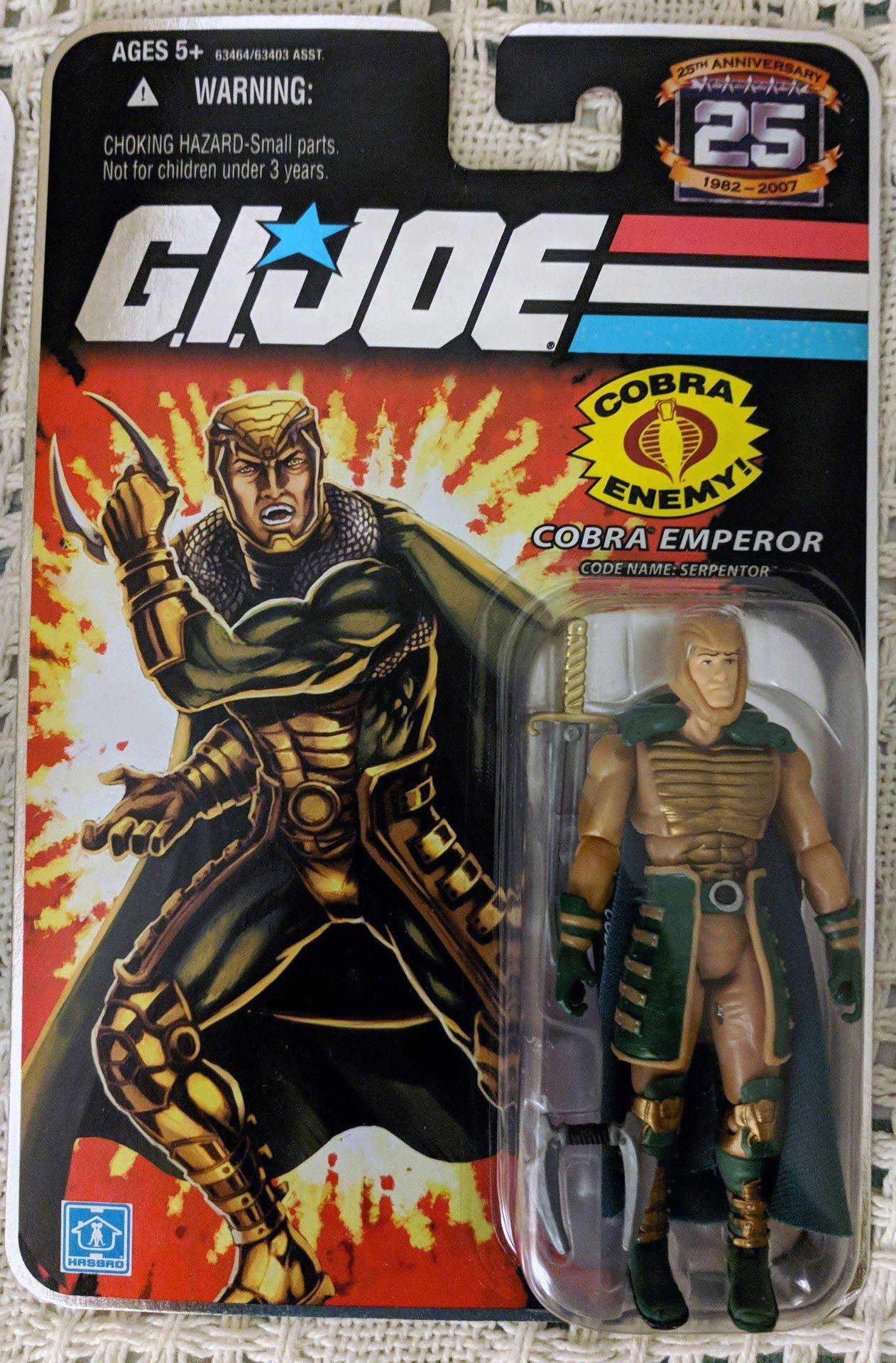 Hasbro Gi Joe 25Th Anniversary Serpentor Action Figure