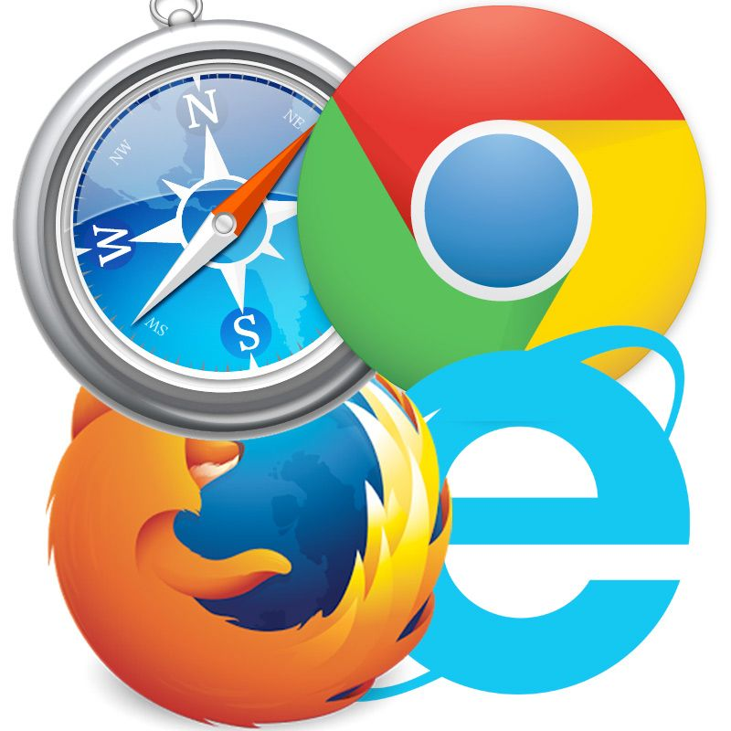 four different types of web browsers web browsers