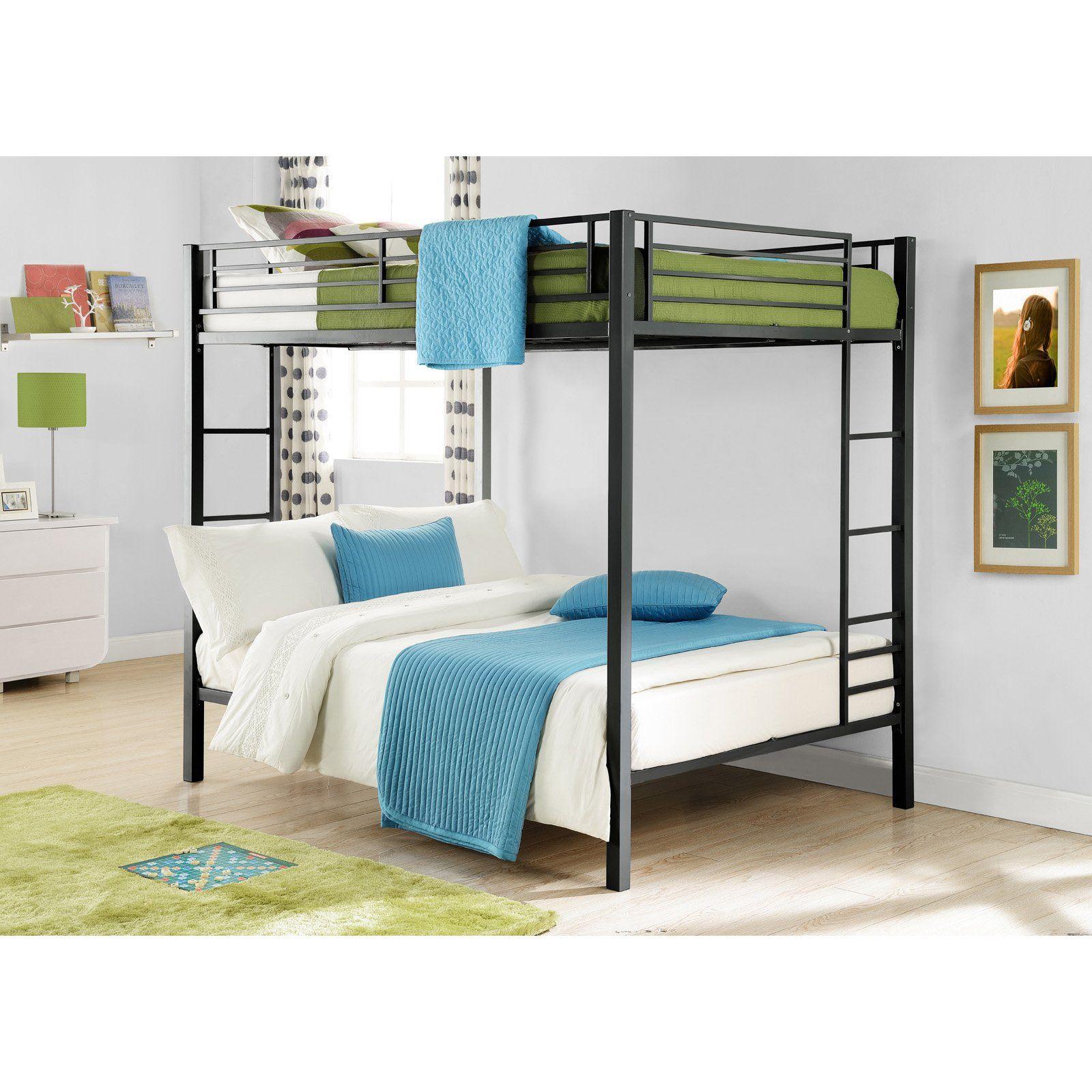 Loft bed ladder ideas  Dorel Home Zurich Full over Full Bunk Bed  hayneedle