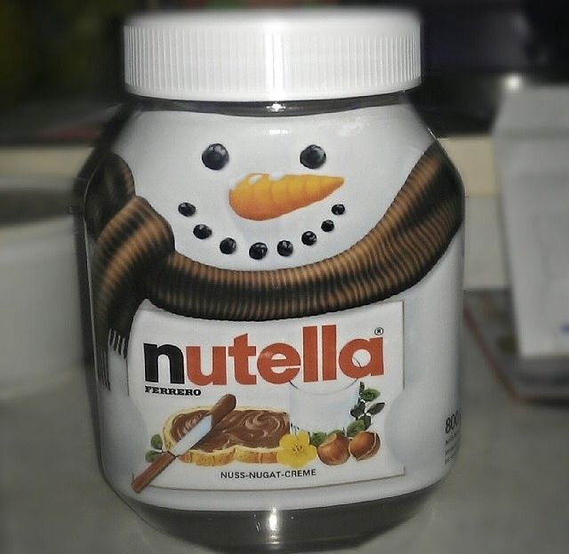 Christmas Themed Nutella Jars Nutella Nutella Jar Nutella Bottle
