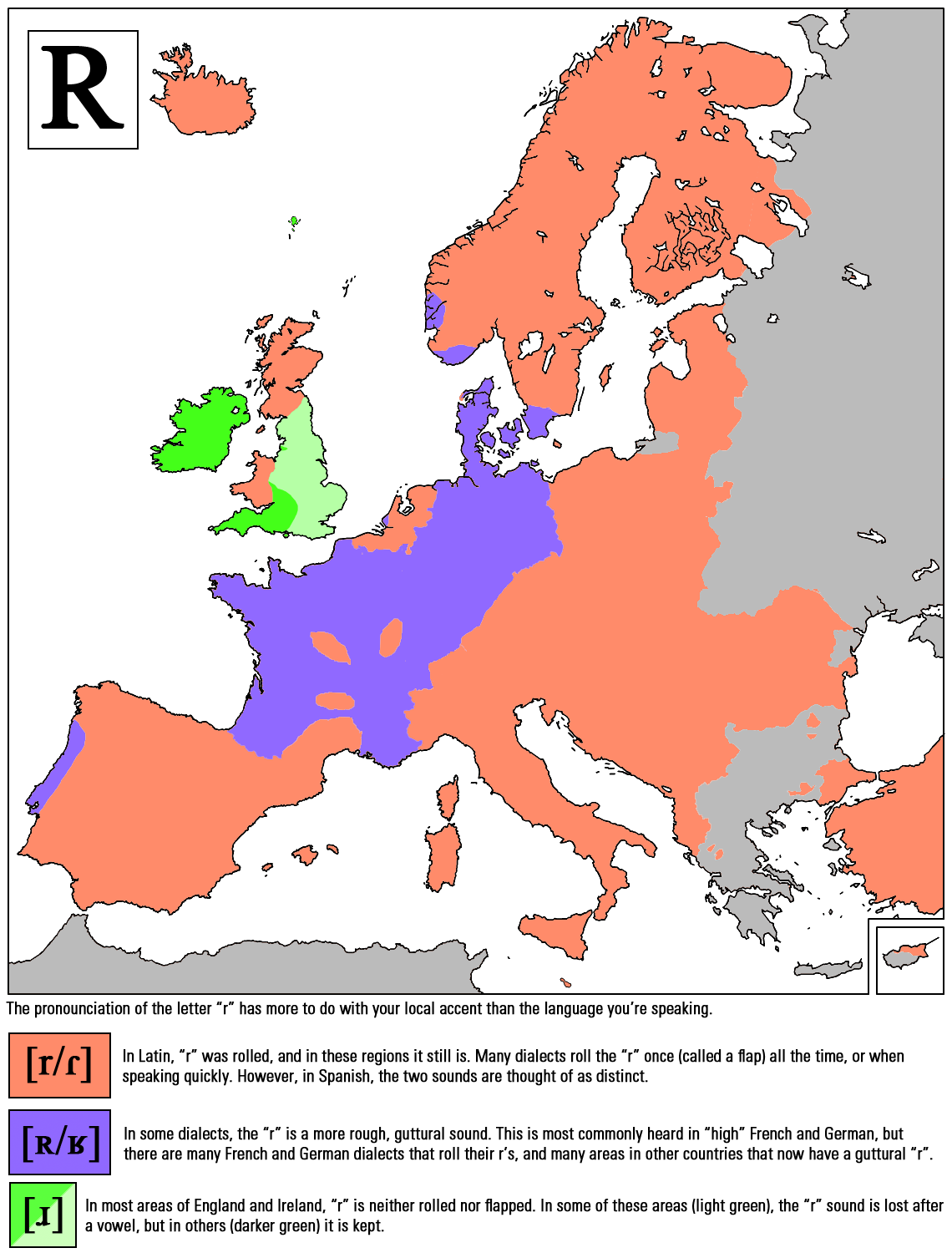 how r sounds around europe europe
