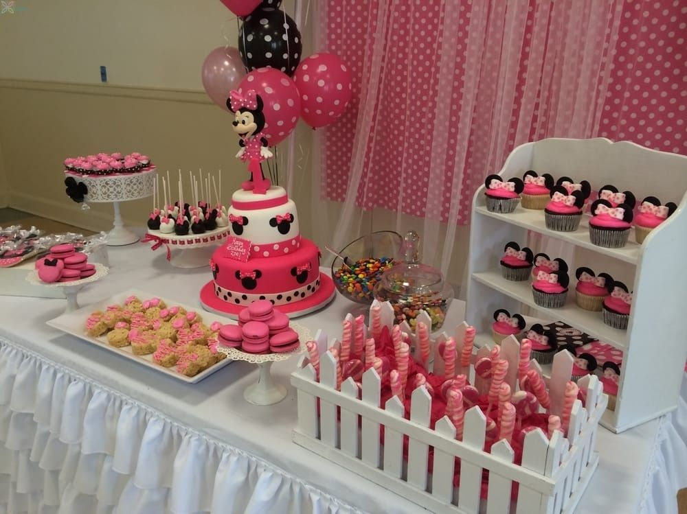 Minnie Mouse Cake Table Decoration Simple Minnie Mouse Themed