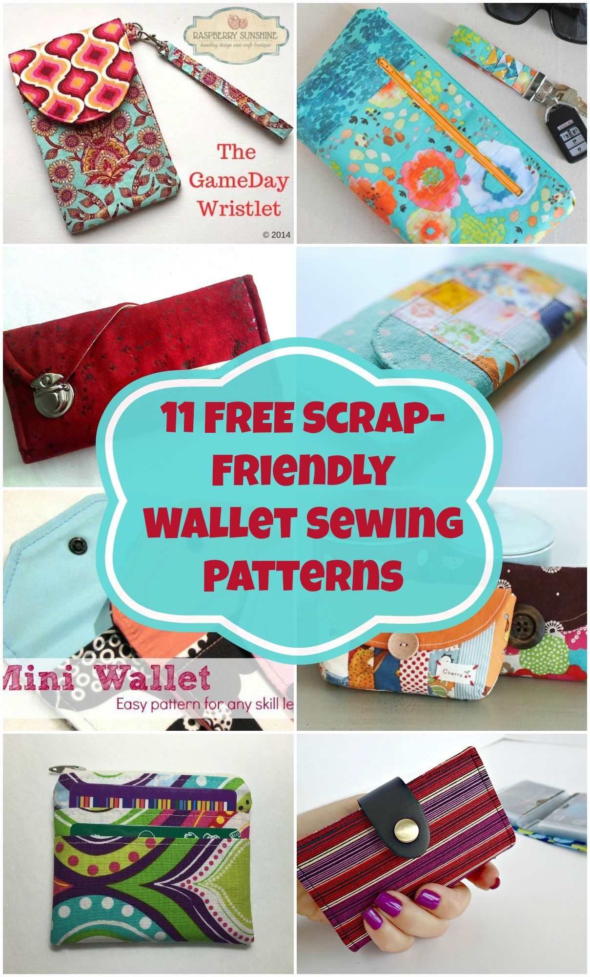 Free wallet sewing patterns to download wallet sewing pattern 11 free wallet sewing patterns all scrap friendly easy to sew with smaller pieces jeuxipadfo Image collections