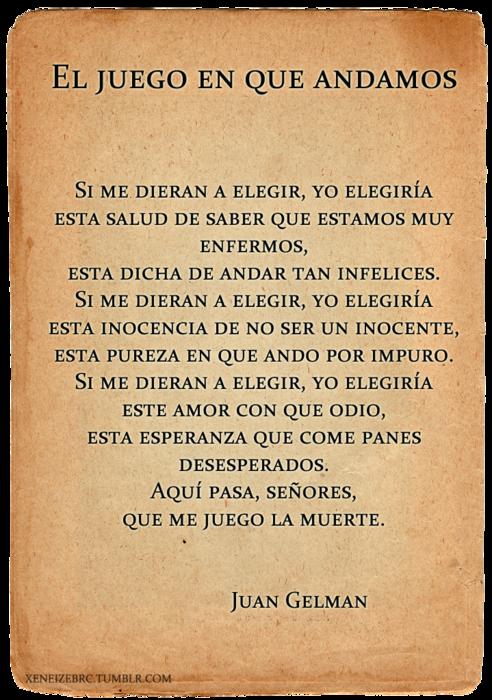 Juan Gelman Frases Y Poemas Frases Poesia Y Poesía Romántica