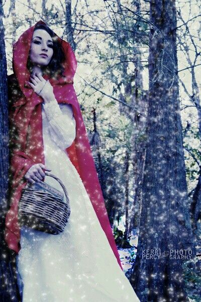 red riding hood rests but does not venture off the path