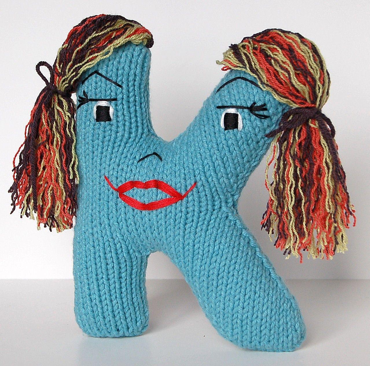 Letter K - Alphabet Plush Toy Knitting PATTERN - Karianne | Plush ...