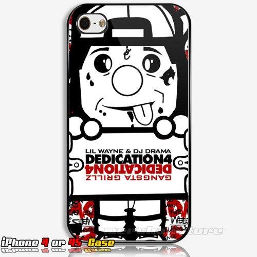 Skateboarding Lil Wayne Trukfit iPhone 4 or 4S Case
