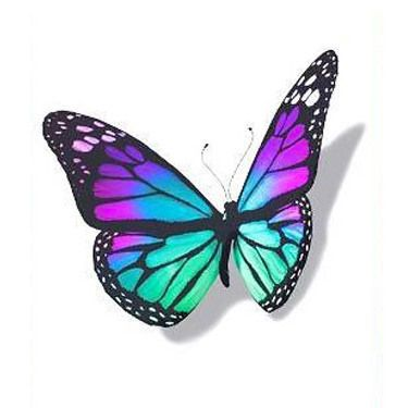 Photo of Blue 3D Butterfly Tattoo Design