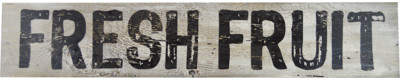 Fireside Home 'Fresh Fruit' Textual Art on Manufactured Wood