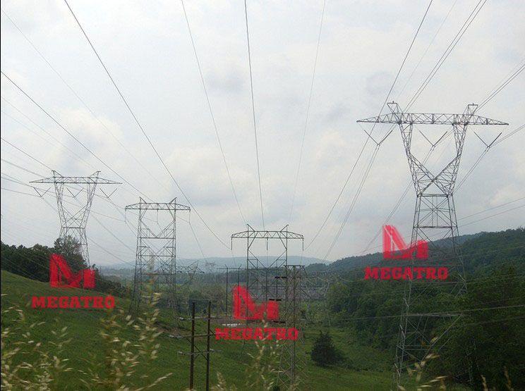 765kv Power Transmission Line Steel Tower Megatro Fabricates Every