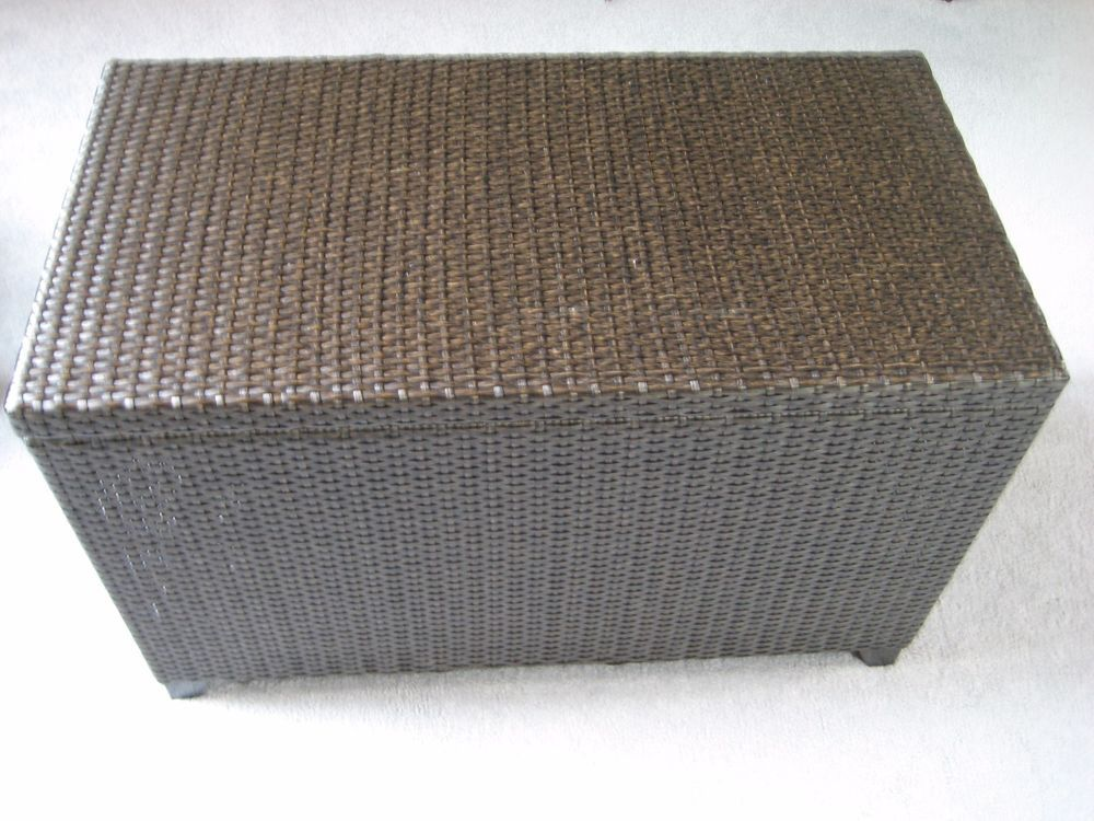 Pier 1 Imports Storage Blanket Toy Chest Trunk Smooth Wicker #Pier1Imports