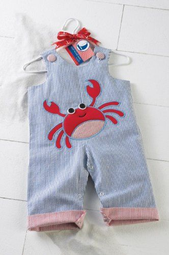 Mudpie Baby Clothes Captivating $3299$4000 Baby Mud Pie Boys Longall Seersucker Beach Crab Outfit Inspiration