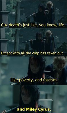 Zoe the Emo - St Trjnian's 2  Best quote in the entire film