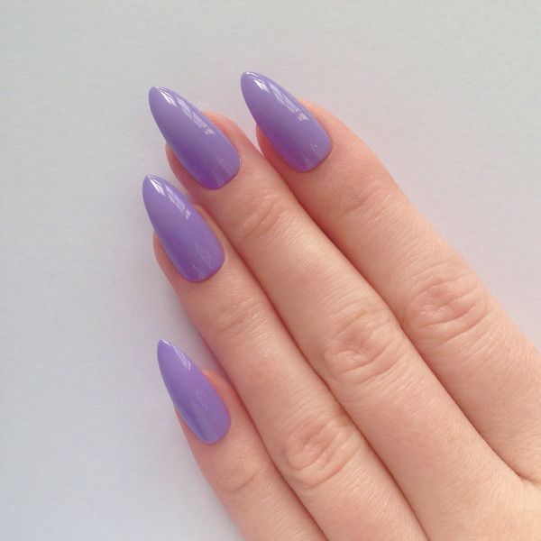 Lilac Stiletto nails, Fake nails, Stiletto nails, Press on stiletto ...