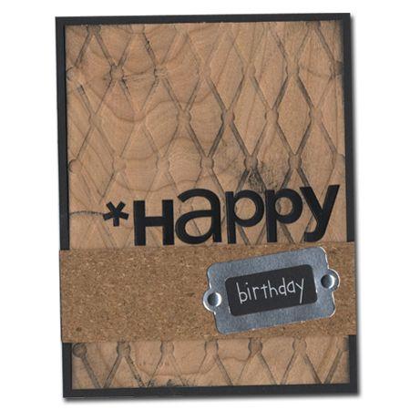 1003-Happy Birthday wood panel card