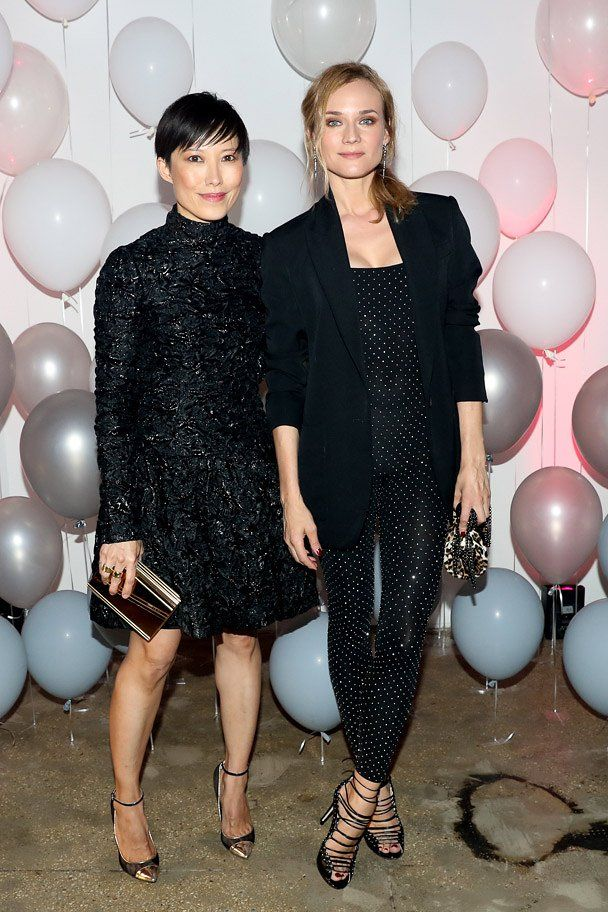 Sandra Choi and Diane Kruger at the Maybelline party during New York Fashion Week.