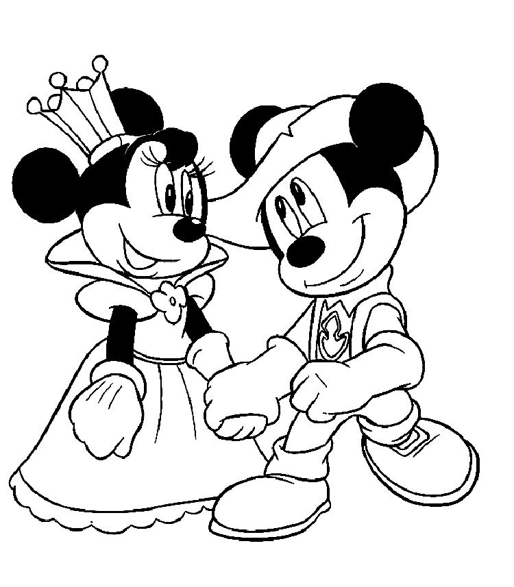 Mickey And Minnie Mouse Coloring Pages Free Mickey Mouse Drawings Minnie Mouse Coloring Pages Disney Coloring Pages