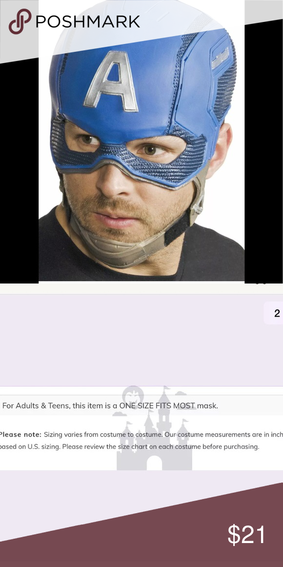 Brand New Civil War Captain America Adult Mask
