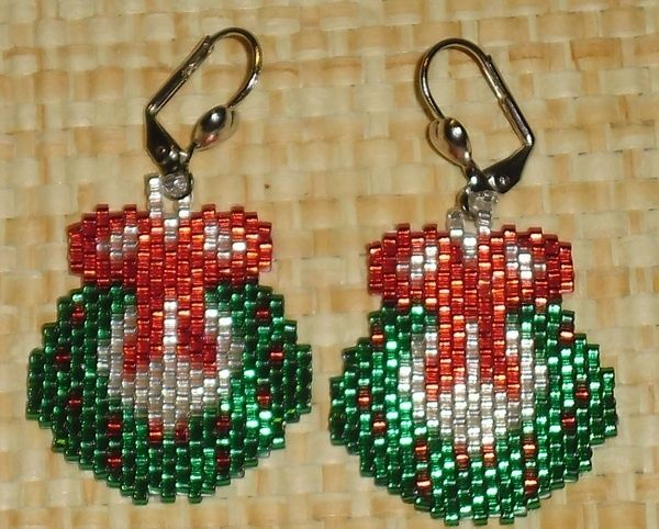 Free Beaded Christmas Patterns Free Beaded Wreath Patterns
