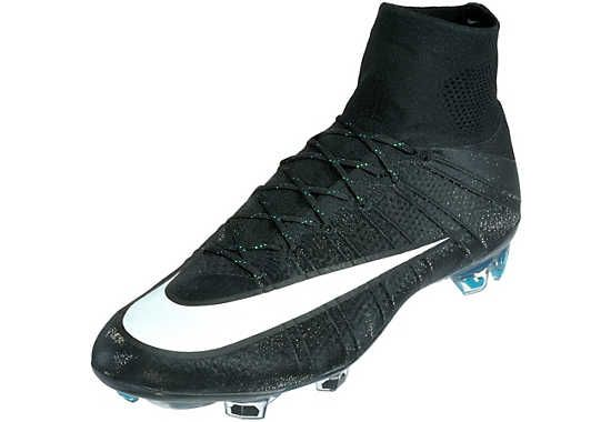 Nike Mercurial CR7 Superfly FG Soccer Cleats - Black and Turquoise ... 8bd0ae0a9e3ec