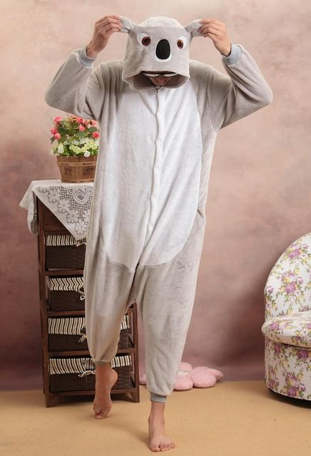 Pijama Cosplay Shineye Koala Unisex Adultos Flanela Casuais Com Capuz Bonito Dos Desenhos Animados De Animais Sleepwear Pijamas De Adultos Koala Pijamas Natal