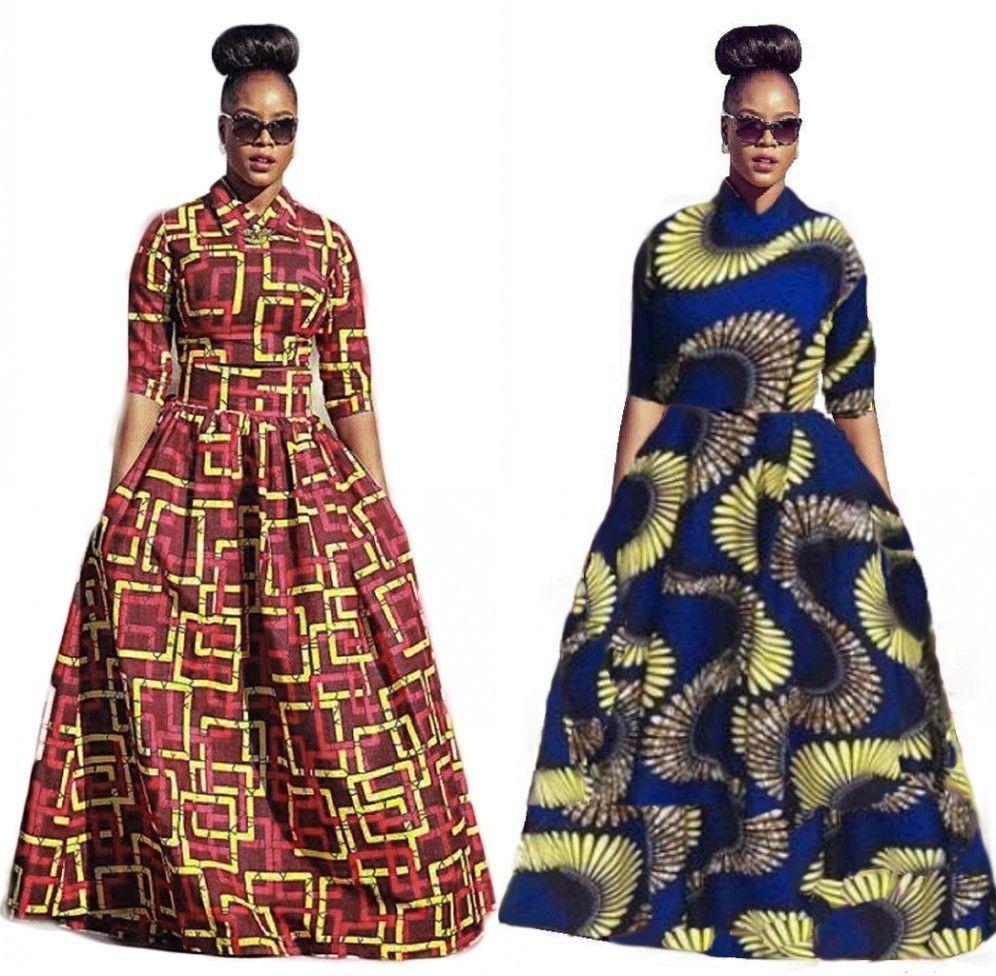 494d5de1d31 Fashion Women Traditional African Print Dashiki Party Plus Size Long Dress  Lot  Unbranded  Casual