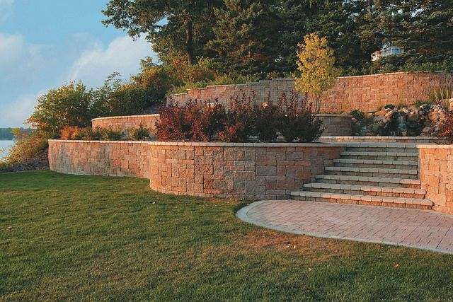 Omaha Man Made Stones Retaining Walls Fire Pits Antiquity Outdoor Supply Omaha Natural Stone Pavers Backyard Landscaping Designs Patio Stones
