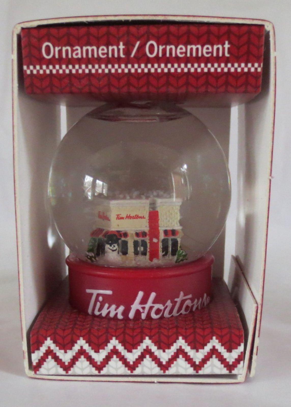 2015 Tim Horton's Store Cafe Snow Globe Christmas Tree