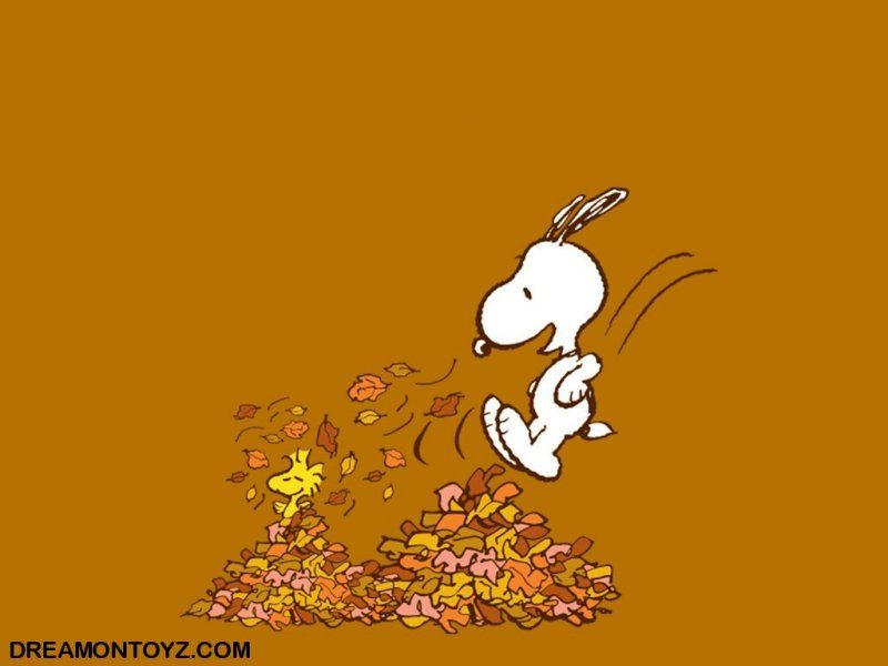 Snoopy Autumn / Fall wallpaper