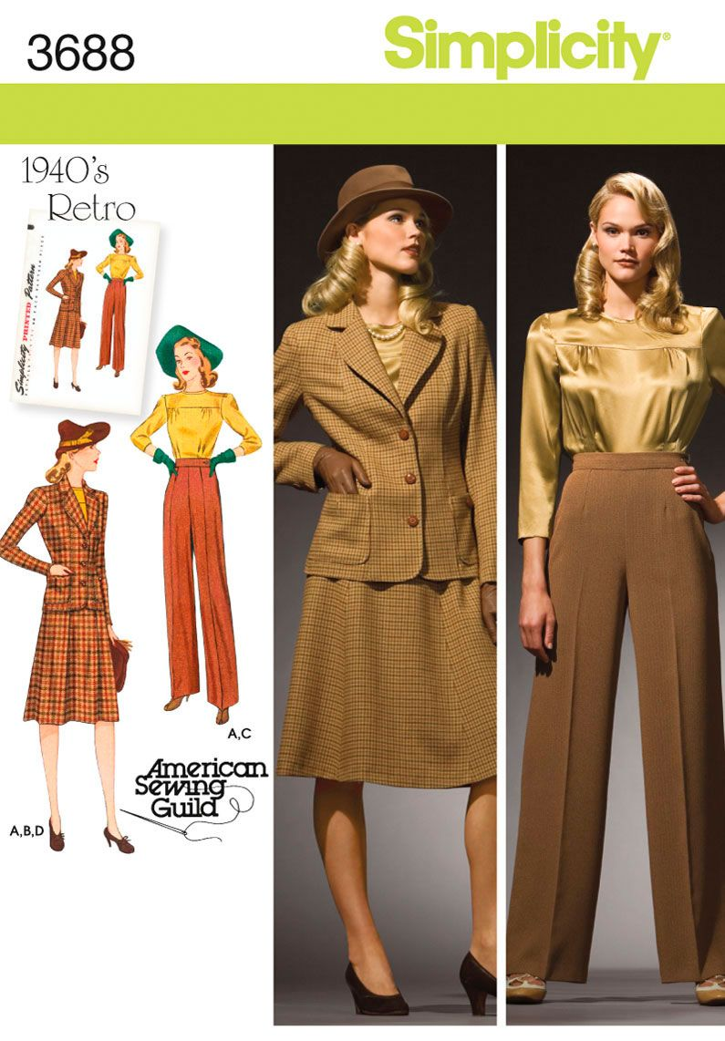 Simplicity Pattern: S3688 Misses\' & Plus Size Smart and Casual Wear ...