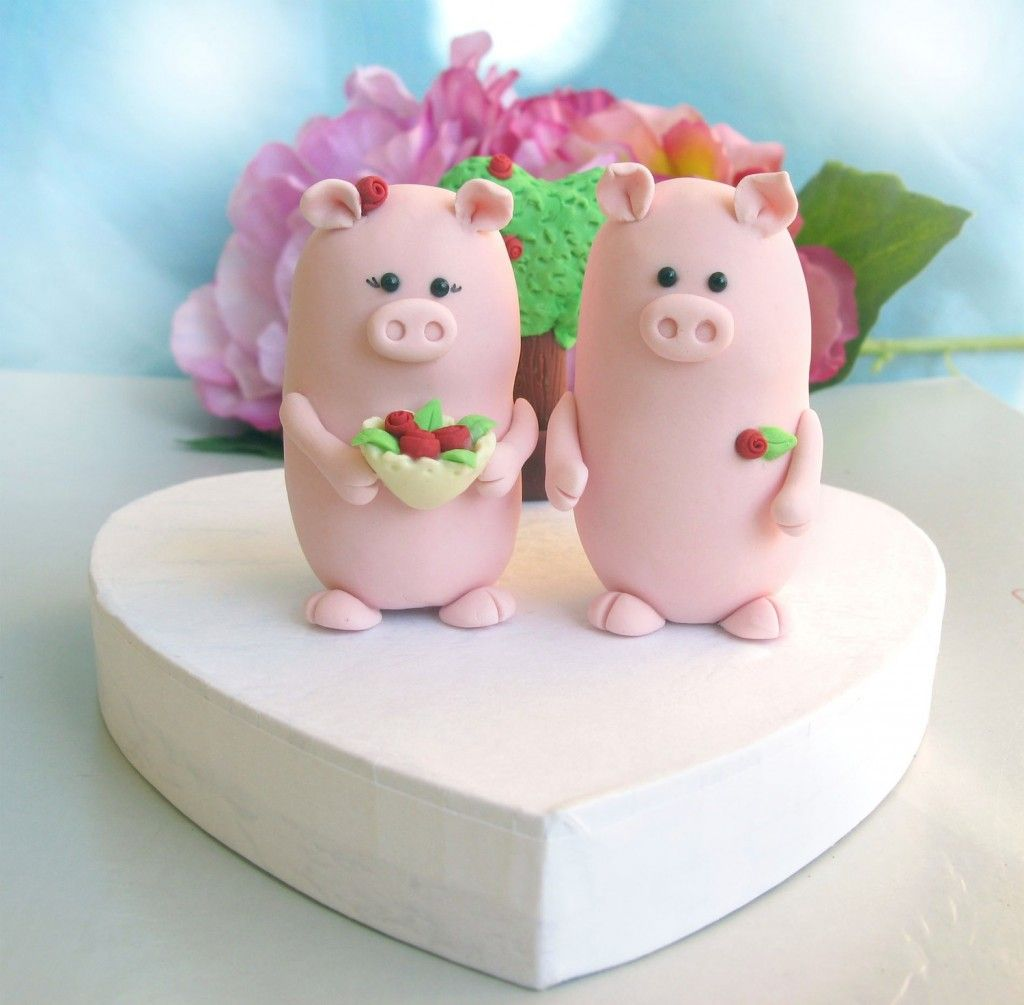 Pig wedding toppers | ....... nothin\' but pigs / part 3 | Pinterest ...