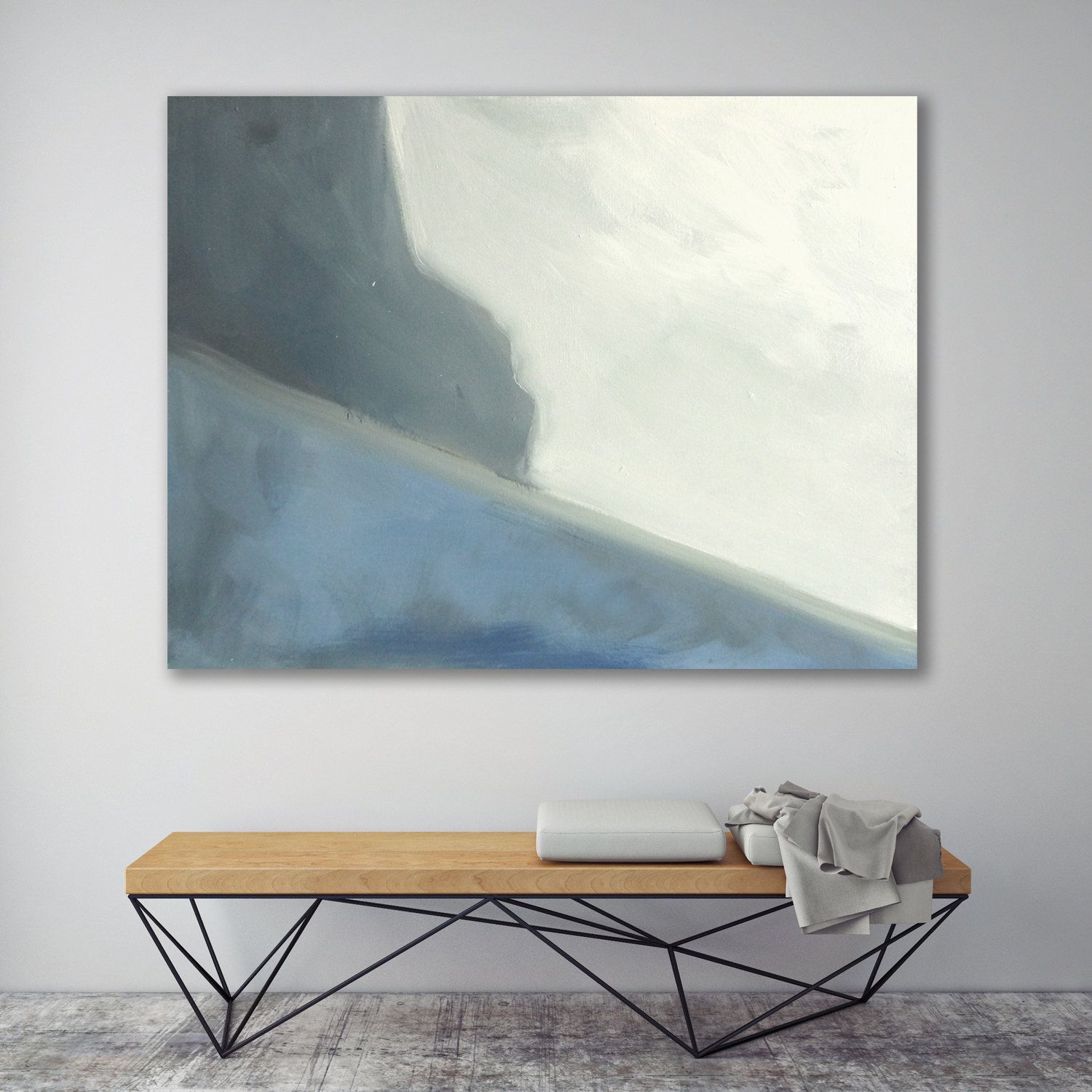 Abstract Landscape Painting Ocean Cliff Modern Art Painting Wall ...