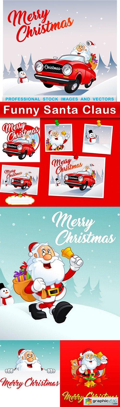 Funny Santa Claus - 7 EPS