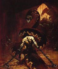 "Authentic Frank Frazetta Print ""CHAINED"" #39 18X21"