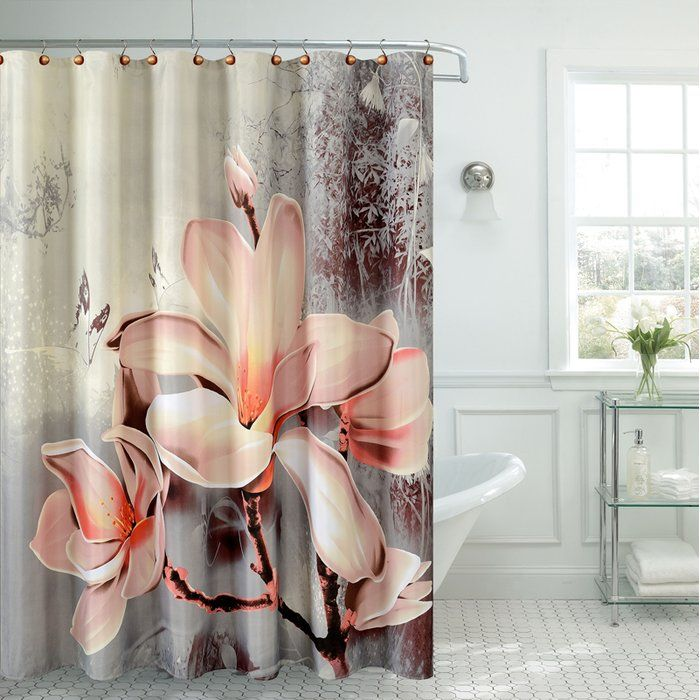 Lyly Fancy Lily Single Shower Curtain Curtains Shower Curtain Fabric Shower Curtains