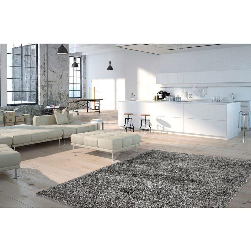 Tapis En Polyester Doux Shaggy Wow Gris 120x170 4619 24122 Blue Carpet Bedroom Sitting Room Decor Dark Blue Rug