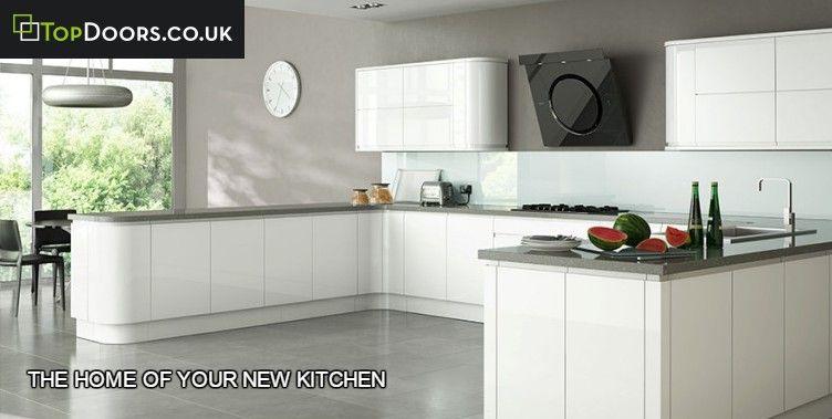 Benefits Of Handleless Kitchen Doors Topdoor Co Uk White Gloss