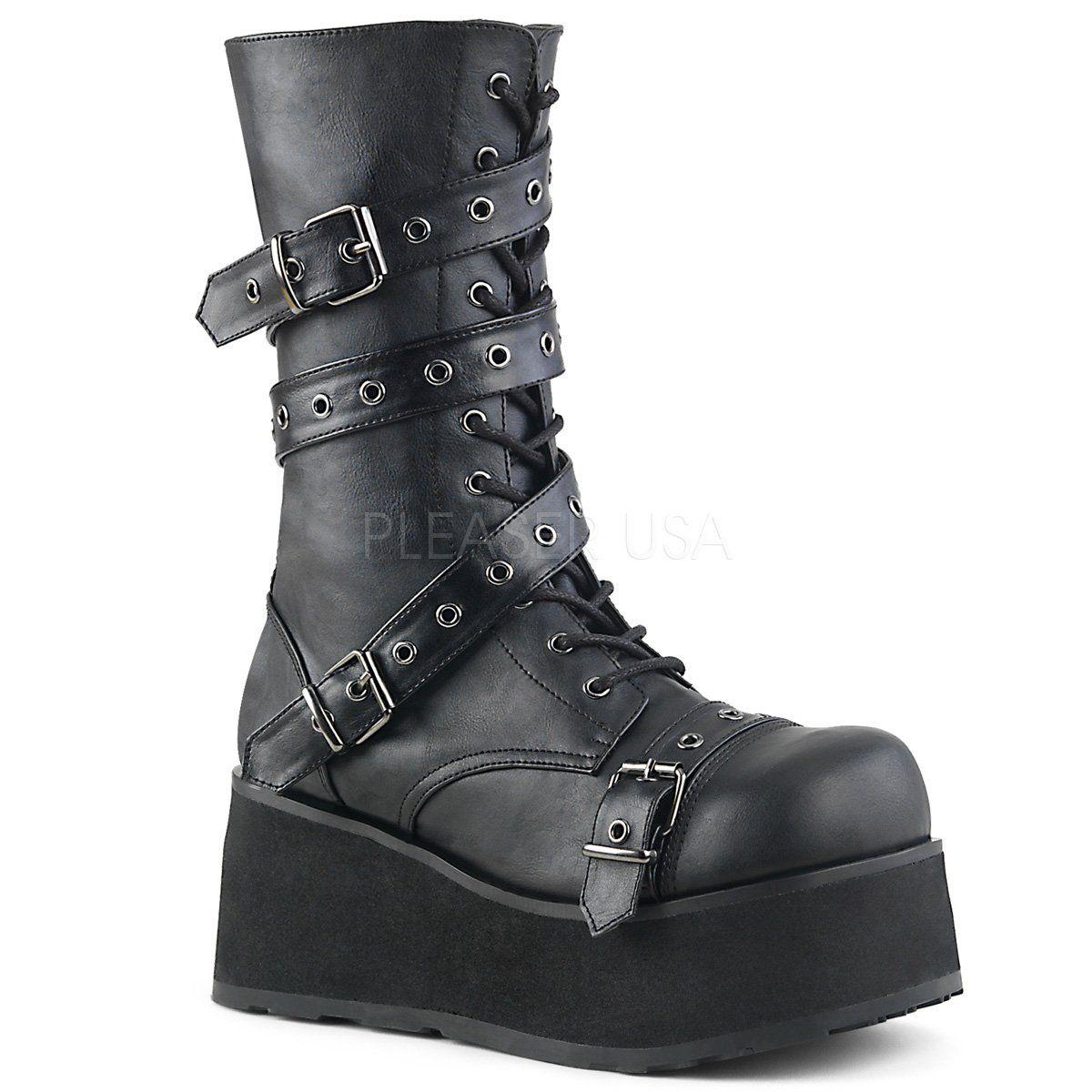 Chaussures Demonia Trashville noires Rock homme kdJKlR3l4