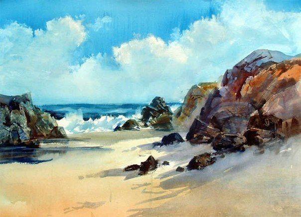 Hudozhnik Arnold Lowrey Tableau Peinture Peinture Paysage Marin