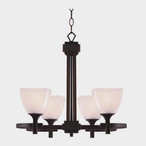 Omega 4 Light Chandelier Oil Rubbed Bronze Finish At Menards