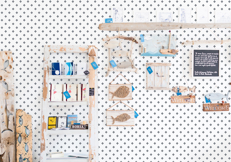 Geometric Polka Dot Wallpaper Blue And White Geometric Peel Etsy Self Adhesive Wallpaper Polka Dots Wallpaper Dots Wallpaper