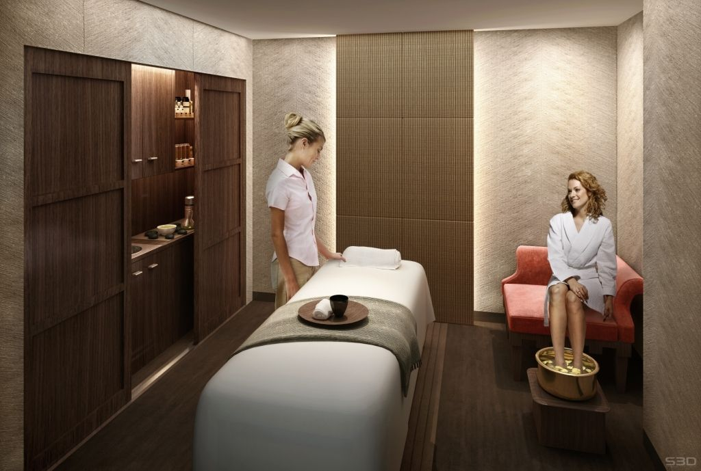 Trump ny spa treatment room spa rooms shelving and spa for A trial beauty treatment salon