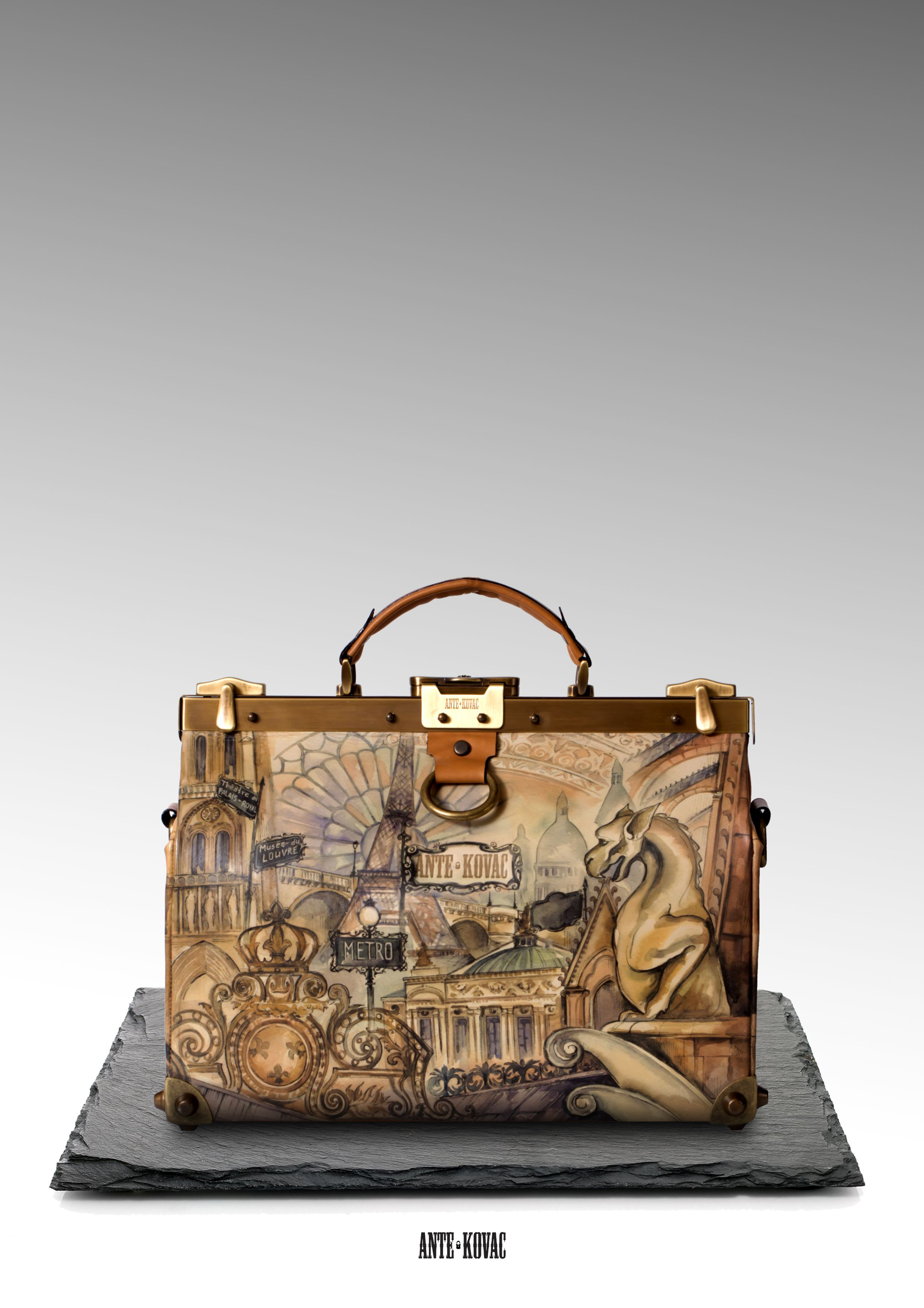 Collection Architekt ll by a Russian bag brand ANTE KOVAC inspired by  different European cities. This one is dedicated to France. a53013ed30a