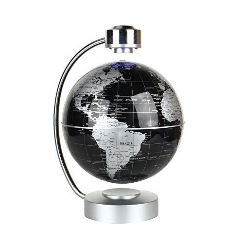 Magnetic levitation floating world map globe 8 rotating planet magnetic levitation floating world map globe 8 rotating planet earth globe ball with led gumiabroncs Images