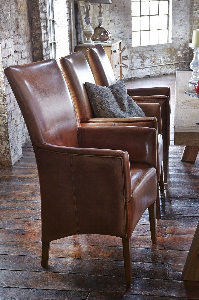 Add A Sophisticated Look To Your Dining Room With The Salisbury Buffalo  Leather Chair.
