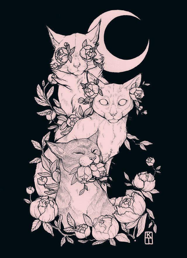 Katzenzeichnung - sehen Sie nichts Böses, hören Sie nichts Böses, sprechen Sie nichts Böses.   - Tattoo ideen - #Böses #hören #Ideen #Katzenzeichnung #nichts #sehen #Sie #sprechen #Tattoo